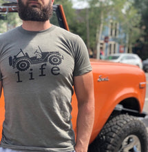 Load image into Gallery viewer, 4x4 Life Tee Heather Olive