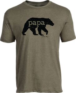 Papa Bear Tee Heather Olive