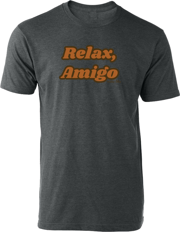 Relax Amigo Tee Heather Charcoal