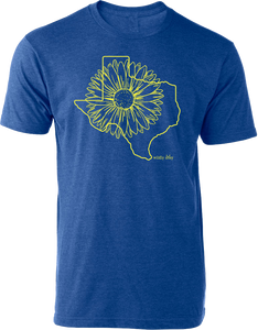 Texas Sunflower Tee Heather Royal
