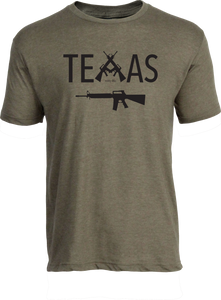 Texas Guns Tee Heather Olive