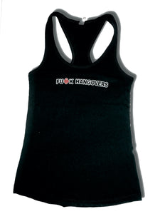 Black Hangover Womens Tank Top Razor Back