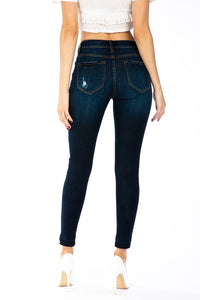Dark Distressed Kan Can Jeans