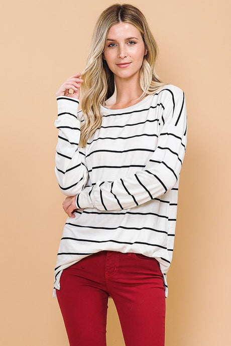 Black/White Striped Long Sleeve