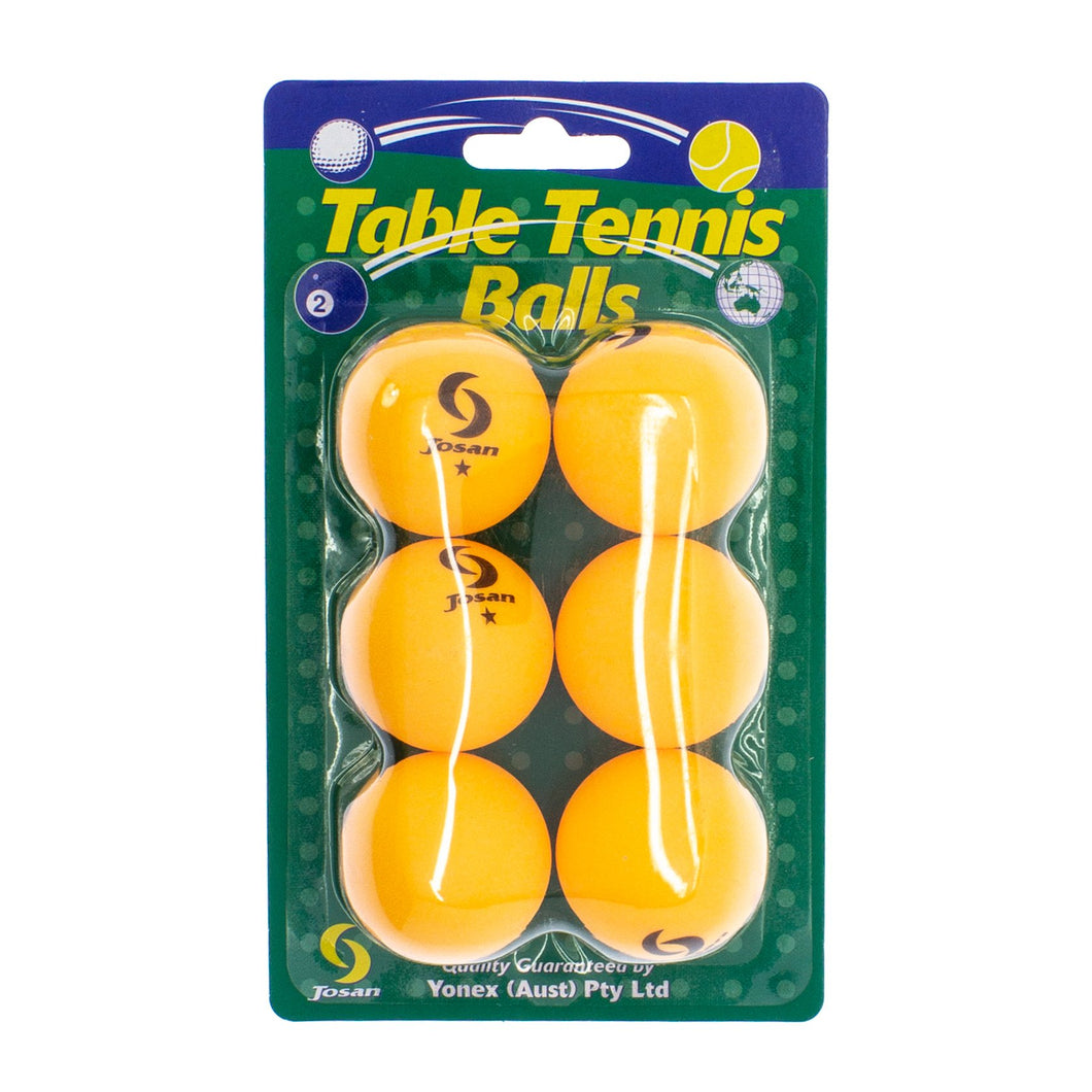 6-pack Table Tennis Balls - 1 star