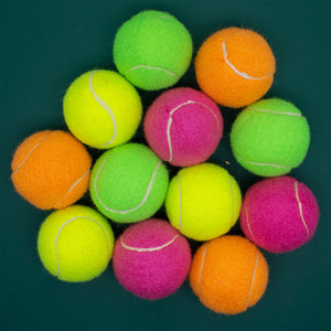 Standard Sized Tennis Ball - Assorted Colours (6 balls)