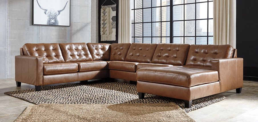 Baskove Signature Design by Ashley 4-Piece Sectional with Chaise image