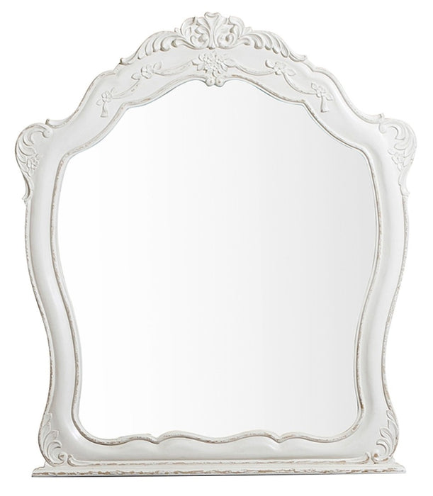 Homelegance Cinderella Mirror in Antique White with Grey Rub-Through 1386NW-6 image