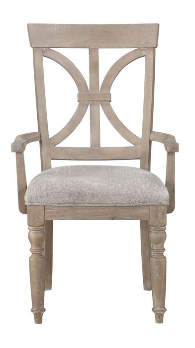 Homelegance Cardano Arm Chair in Light Brown(Set of 2) image