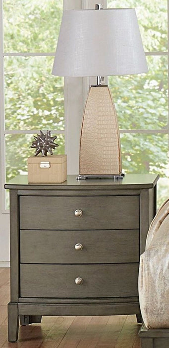 Homelegance Cotterill 3 Drawer Nightstand in Gray 1730GY-4 image