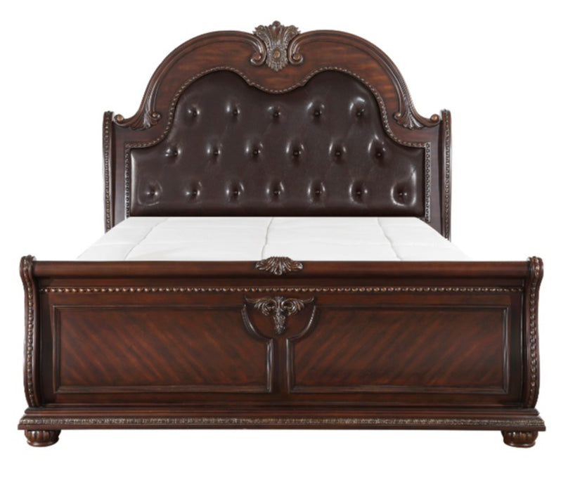 Homelegance Cavalier King Sleigh Bed in Dark Cherry 1757K-1EK* image