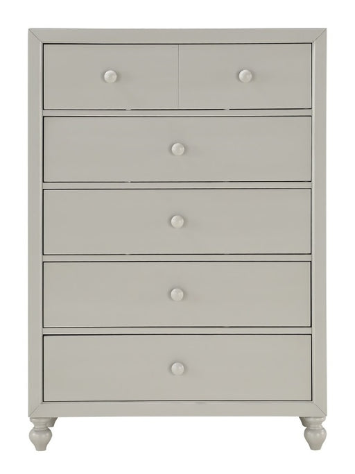 Homelegance Wellsummer 5 Drawer Chest in Gray 1803GY-9 image