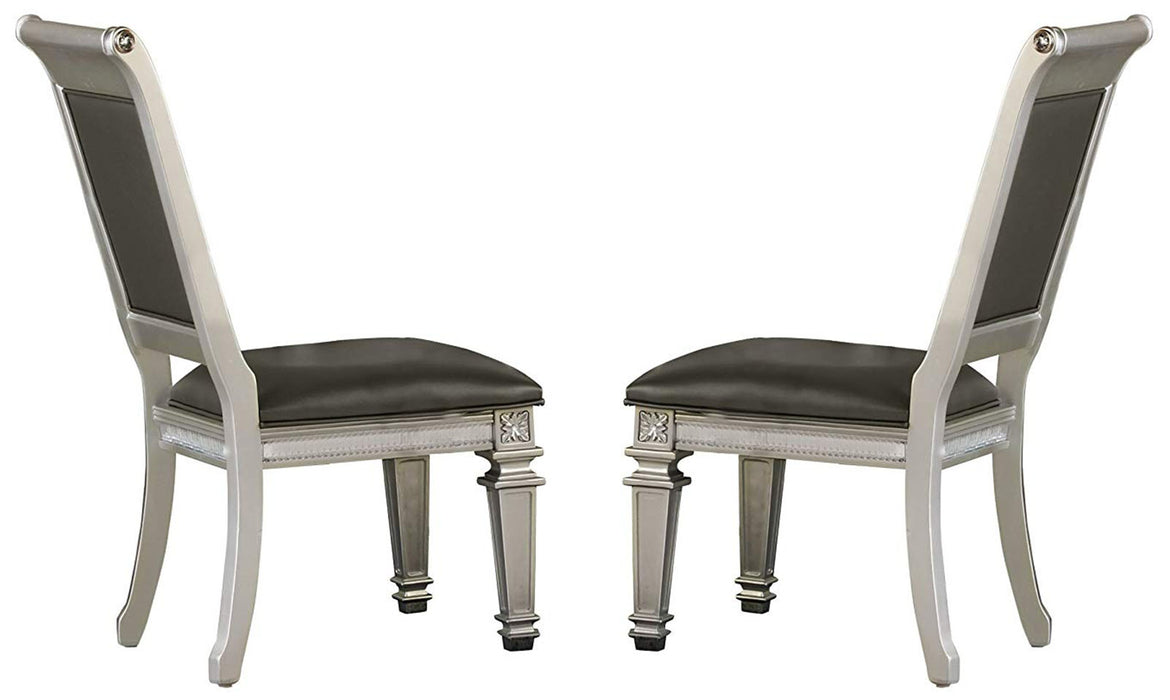 Homelegance Bevelle Side Chair in Silver (Set of 2) 1958S image