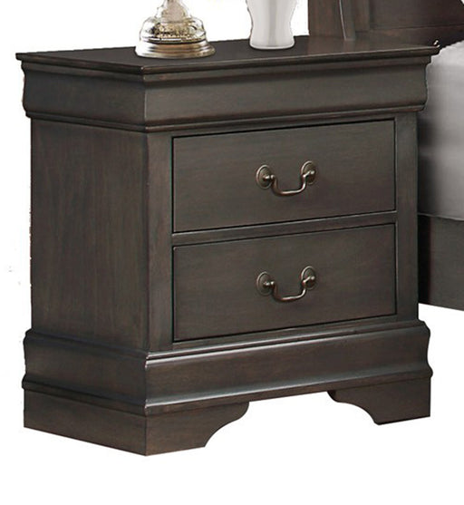 Homelegance Mayville 2 Drawer Nightstand in Gray 2147SG-4 image