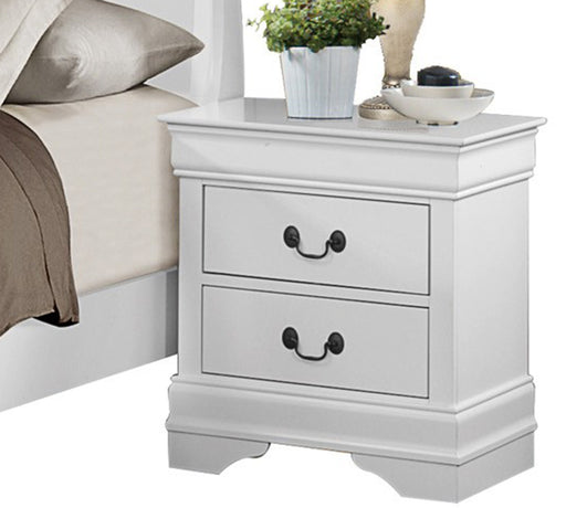 Homelegance Mayville 2 Drawer Nightstand in White 2147W-4 image