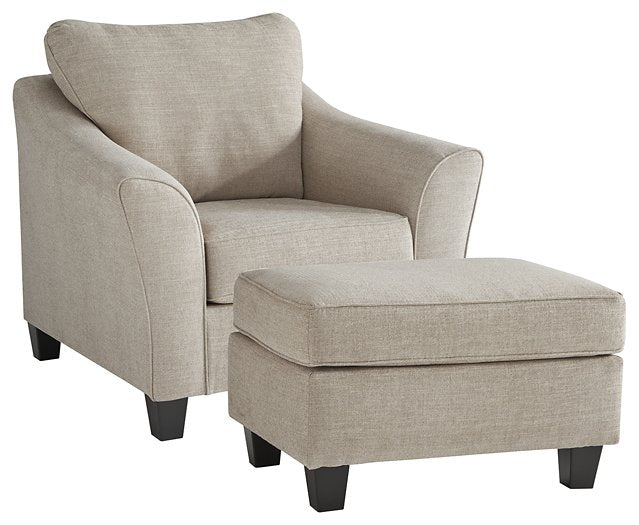 Abney Benchcraft 2-Piece Chair and Ottoman Set