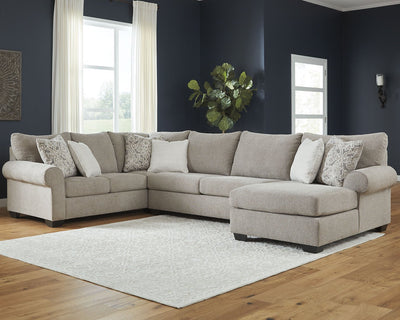 Baranello Benchcraft 3-Piece Sectional with Chaise