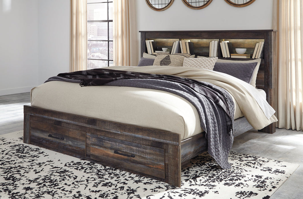 Drystan Signature Design by Ashley Bookcase Bed with 2 Storage Drawers image