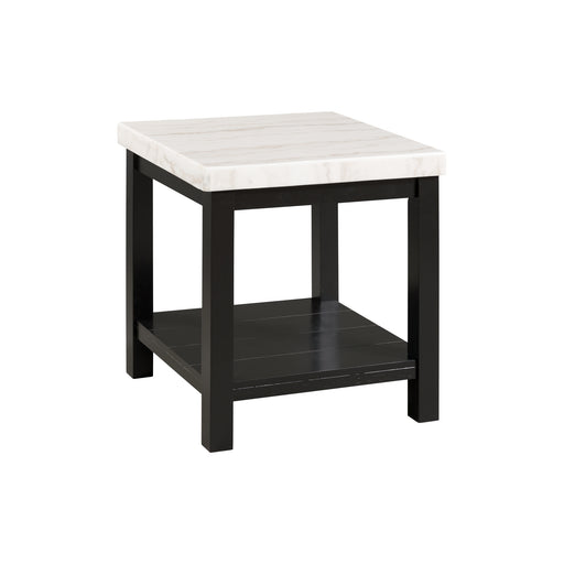 Marcello White Marble Square End Table image