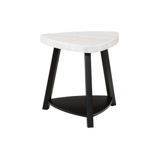 Trinity White Marble Top End Table image
