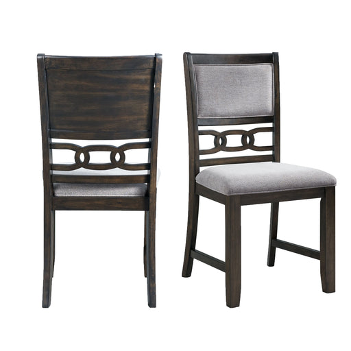 Amherst Standard Height Side Chair Set in Walnut of 2 image