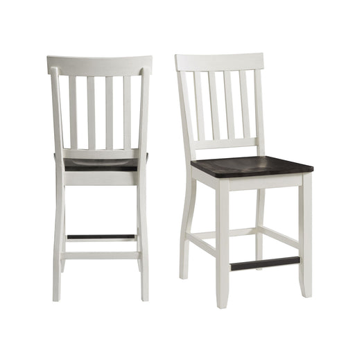 Kayla Two Tone Counter Height Side Chair Set of 2 image