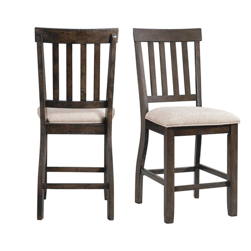 Stone Counter Slat Back Side Chair Set of 2 image