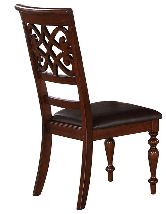 Homelegance Creswell Side Chair in Dark Cherry (Set of 2) image