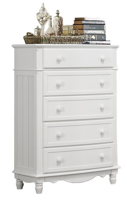 Homelegance Clementine 5 Drawer Chest in White B1799-9 image