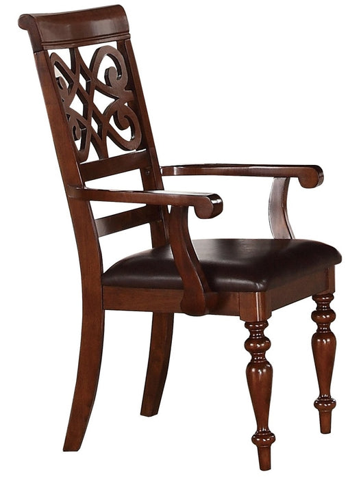 Homelegance Creswell Arm Chair in Dark Cherry (Set of 2) image