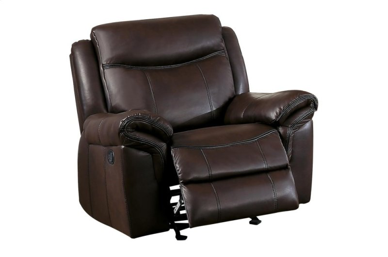 Homelegance Furniture Aram Glider Reclining Chair in Brown 8206BRW-1 image