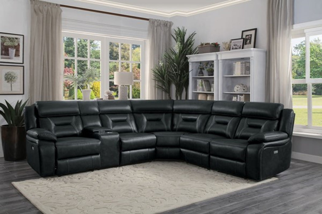 Homelegance Furniture Amite 6pc Sectional Sofa in Dark Gray image
