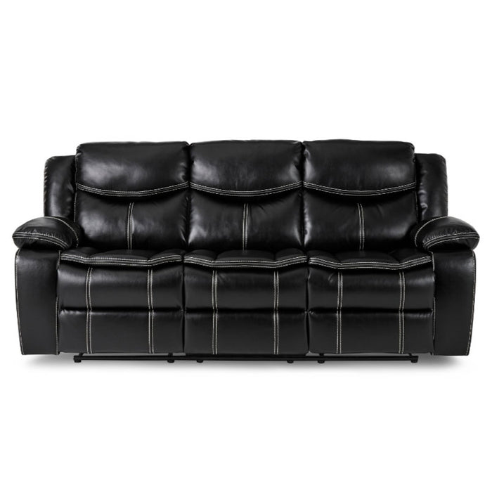 Homelegance Furniture Bastrop Double Reclining Sofa in Black 8230BLK-3 image