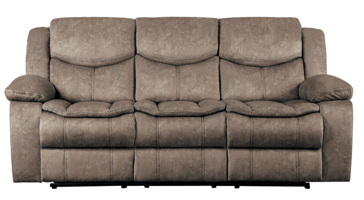 Homelegance Furniture Bastrop Double Reclining Sofa in Brown 8230FBR-3 image