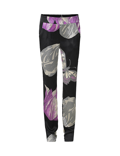 Load image into Gallery viewer, 1130 Silk pants Tulip Black