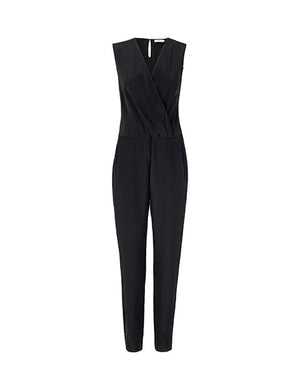 1347S Wrap jumpsuit Solid Black