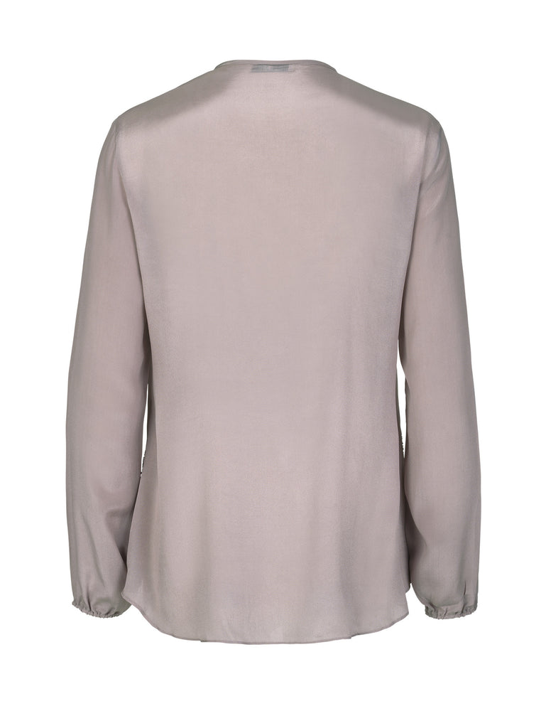 Load image into Gallery viewer, 1355EMB V-neck Silver embroidery Nougat