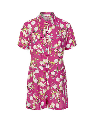 Load image into Gallery viewer, 1371VIS Short jumpsuit Cherry blossom Pink