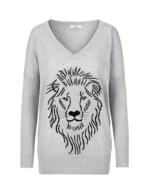 Load image into Gallery viewer, 1376 Bat knit Lion Grey