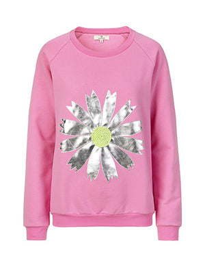 1379 Sweatshirt Daisy Light Pink