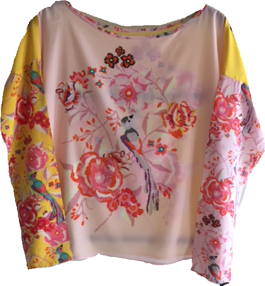 Load image into Gallery viewer, 1900 Patch blouse Sweet bird Yellow