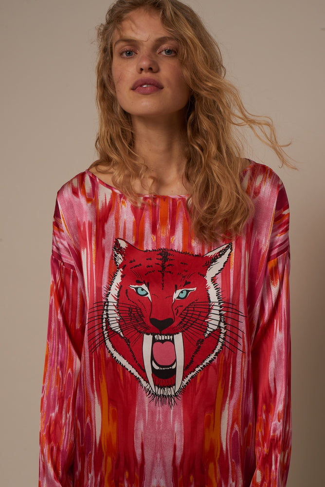 2005 Patch blouse Sabertooth Red