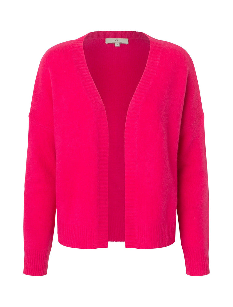 Load image into Gallery viewer, 2226 Cashmere cardigan Solid Fuchsia