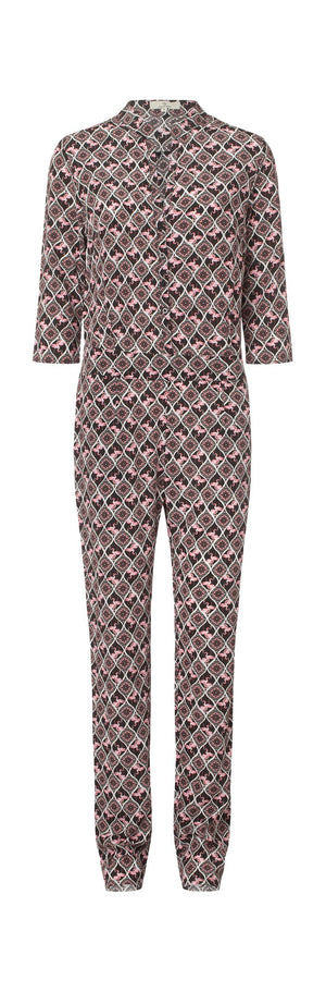 Load image into Gallery viewer, 2334 Jumpsuit Flamingo Black