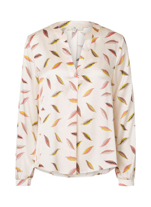 Load image into Gallery viewer, 2423 Spark blouse Leafy Cream
