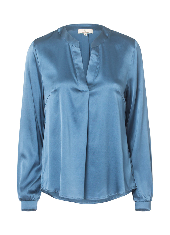 Load image into Gallery viewer, 2423 Spark blouse Solid Blue
