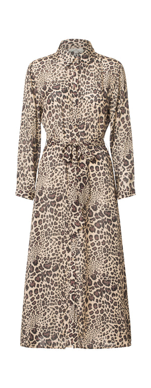 Load image into Gallery viewer, 2449 New shirt dress Winter leo Camel