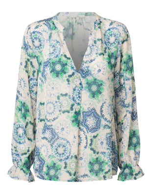 Load image into Gallery viewer, 2515 Favorite blouse Kaleido Blue