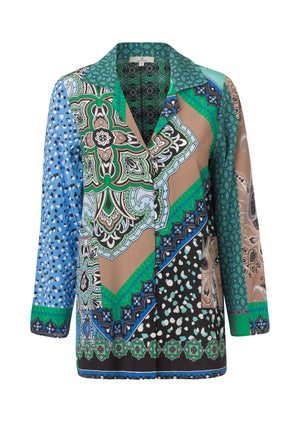 Load image into Gallery viewer, 2559 Silk jacket Celina Blue