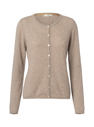 2593 Cashmere cardigan button Solid Nougat
